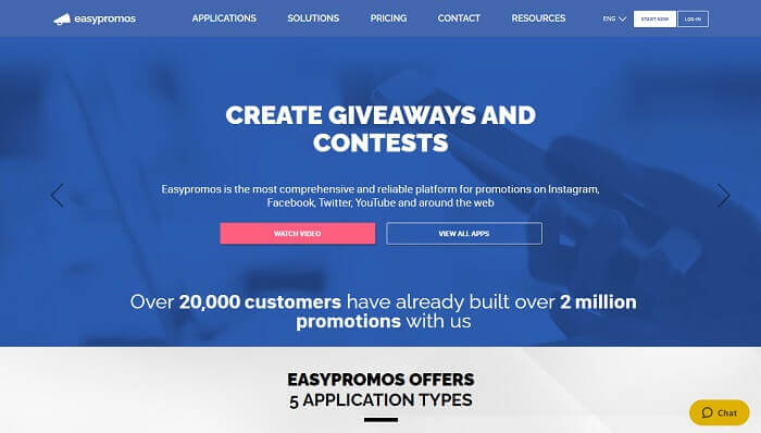 Easypromosapp for Facebook Instagram Twitter YouTube contest or giveaway