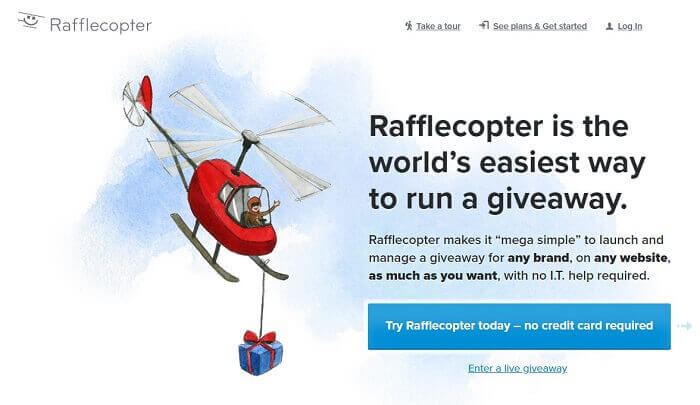rafflecopter create free giveaway template list