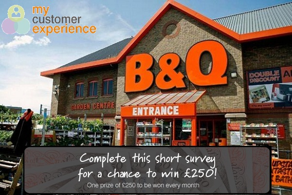 B&Q Customer Feedback Survey: Win £250 Amazon Gift Card Every Month