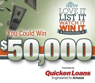 Win $50,000 in HGTV.com Love It List It Watch It Win It 2013 Sweeps