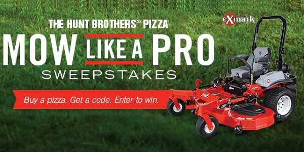 huntbrotherspizza sweepstakes huntbrotherspizza com mow like a pro sweepstakes 5530