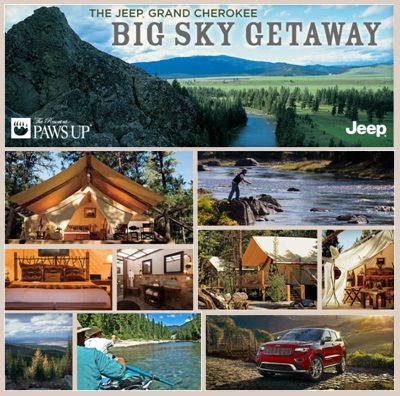 Jeep Grand Cherokee Big Sky Getaway Sweepstakes