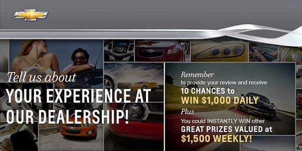 Chevrolet My Dealer Feedback Survey Sweepstakes
