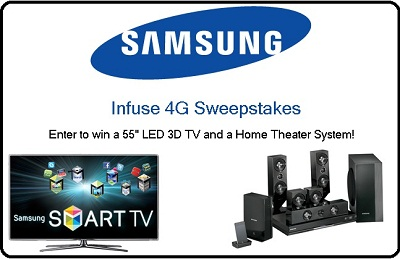 Samsung Infuse 4G Sweepstakes