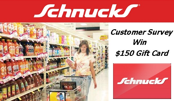 schnucks gift card win 150 gift card in schnucks please rate us survey 949