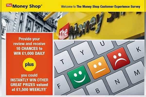 Tell money shop in Survey Sweepstakes to Win Cash Daily/Weekly