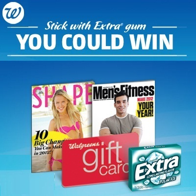 Walgreens Extra Gum Sweepstakes: Win $1000 gift card and 10-year subscription