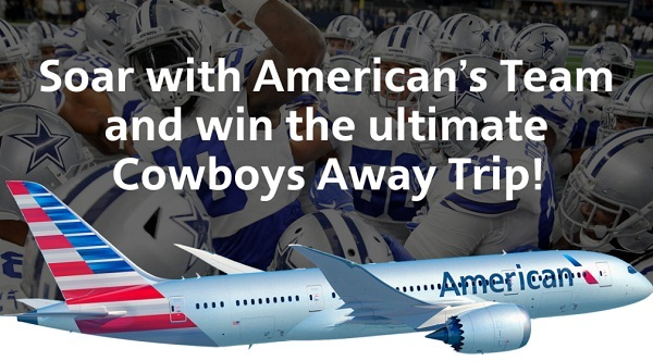 American Airlines Dallas Cowboys Sweepstakes 2019