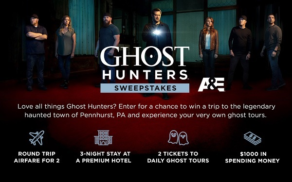 Ghost Hunters Sweepstakes 2019