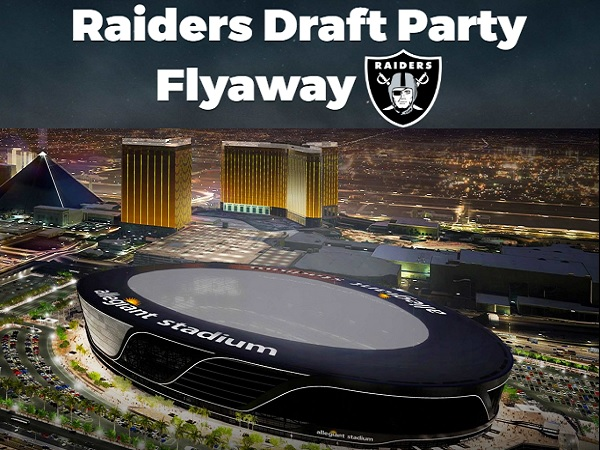 Raiders Draft Party Flyaway Sweepstakes