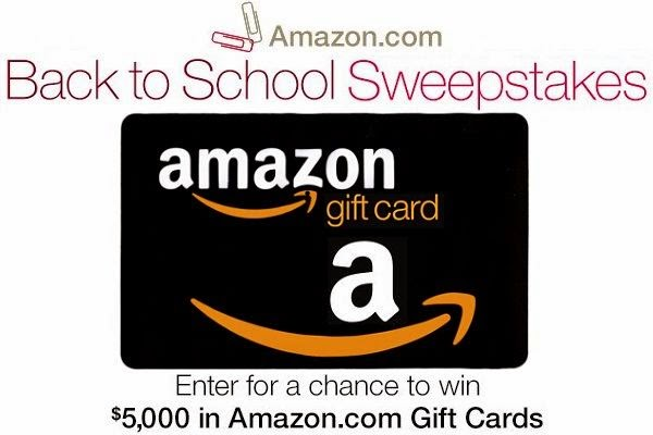 Win $5000 Gift Cards in Amazon.com Back to School 2014 Sweeps