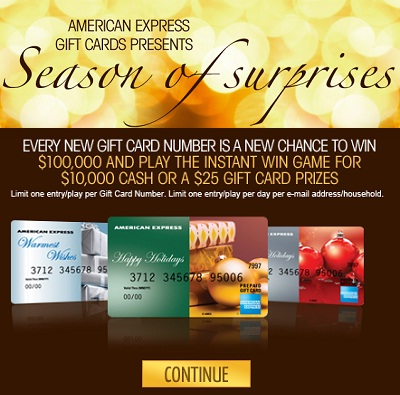 American Express: 2011 Season of Surprises IWG & Sweepstakes