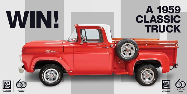Win 1959 Classic Ford Truck from Art Van! | SweepstakesBible