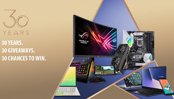 Asus 30 Days of Incredible Sweepstakes