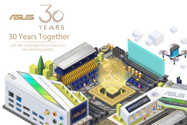 Asus.com 30 Years Together Sweepstakes