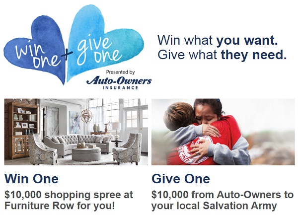 Auto-Owners Insurance Win One + Give One Sweepstakes