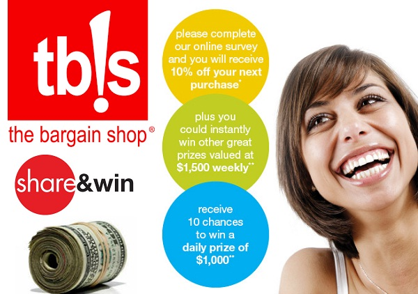 Bargain Shop Listens Survey: Win $1000 daily and $1500 weekly