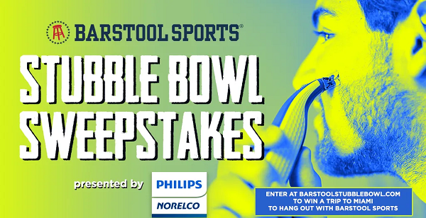 Barstool Sports Stubble Bowl Sweepstakes