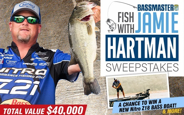 Bassmaster Sweepstakes 2019: Win Fishing Trip With Jamie Hartman