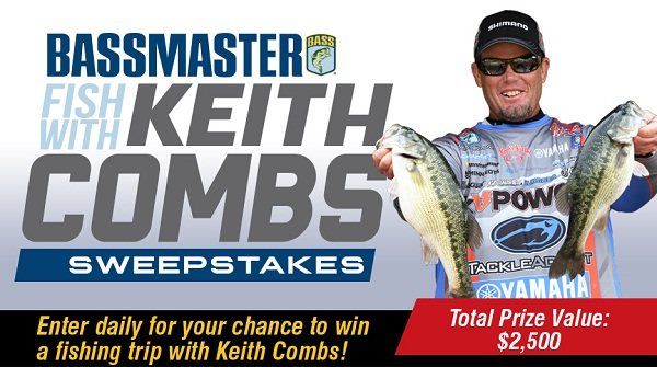 Bassmaster.com Fish with Keith Combs Sweepstakes