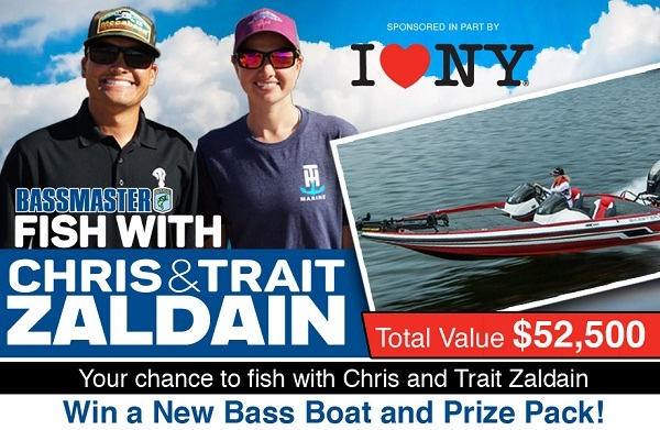 Bassmaster.com Fish with Chris & Trait Zaldain Sweepstakes