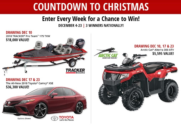 Bass Pro Countdown to Christmas 2014 Sweepstakes