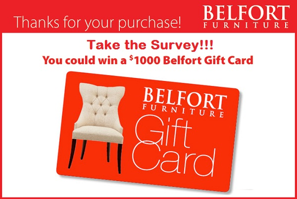 Take Belfort Furniture Survey to Win $1000 Gift card