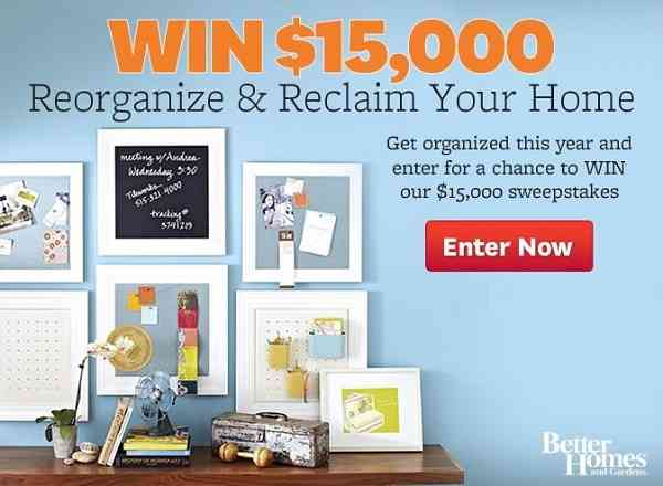 BHG $15K Sweepstakes: Win $15000 Cash