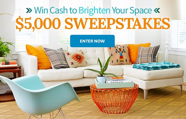 BHG $5,000 Cash To Brighten Your Space Sweepstakes