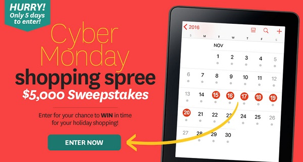 cyber monday sweepstakes tgi friday s survey on tgifsurvey com sweepstakesbible 3728