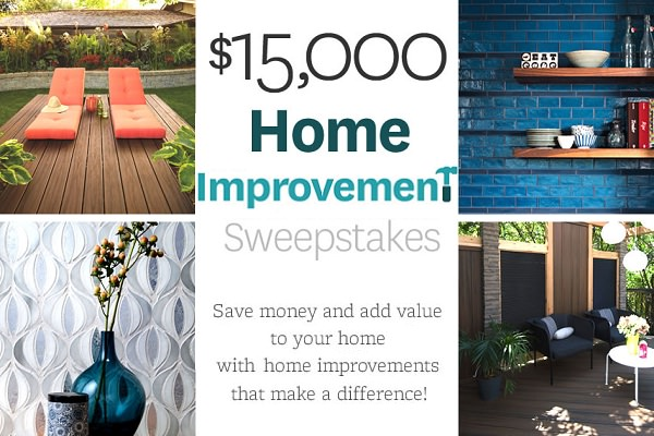 15 000 bhg win home improvement sweepstakes for Win a home contest