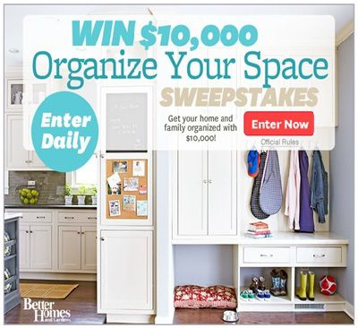 Win $10,000 to Organize your Space with BHG.com