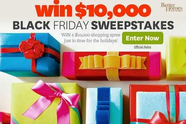 Bhg win shopping spree in black friday sweepstakes for Bhg shopping