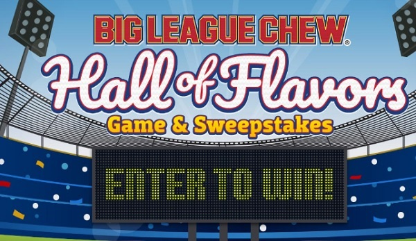 Big League Chew Hall of Flavors IWG and Sweepstakes