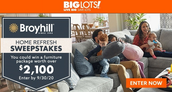 Big Lots Furniture Sweepstakes 2020