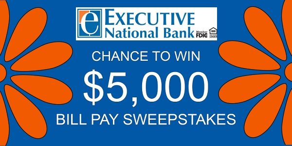 ExecutiveBank.com Bill Pay Sweepstakes