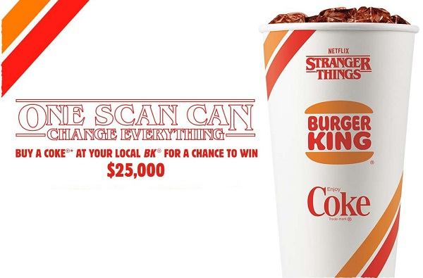 Burger King Stranger Things Sweepstakes and Instant Win Game!