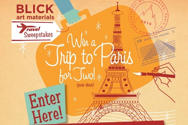 Blick Art Supplies Travel Sweepstakes