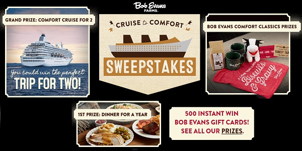 Bob Evans Cruise to Comfort Sweepstakes