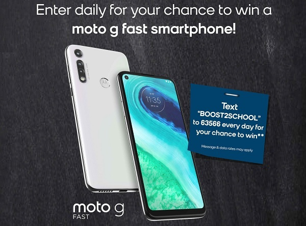Boost Mobile Back to School Sweepstakes: Win Moto G Fast!