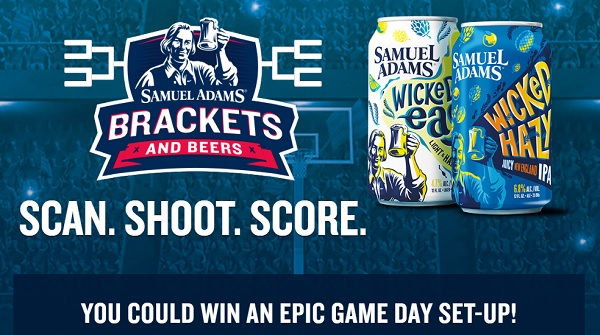 Sam Adams Brackets and Beers Sweepstakes (294 Prizes)