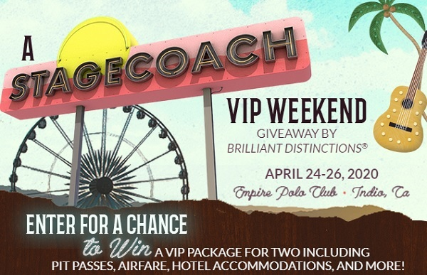 Brilliant Distinctions Stagecoach VIP Weekend Giveaway