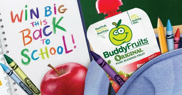 The Buddy Fruits Crayola Essentials 2018 Back to School Sweepstakes