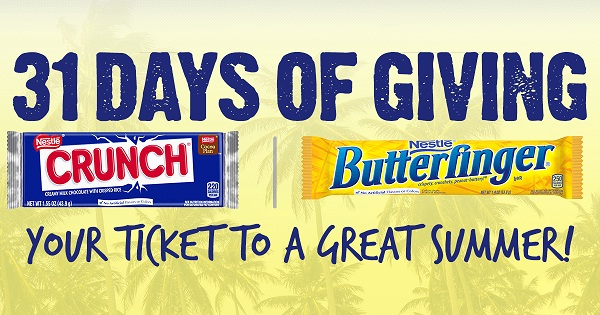 Nestle Crunch & Butterfinger 31 Days of Giving Promotion