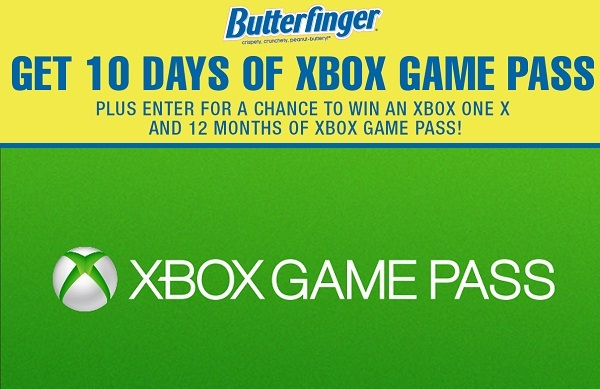 Butterfinger Xbox GamePass Sweepstakes 2019