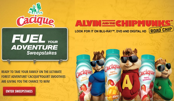 Alvin And The Chipmunks: The Road Chip Dvd SweEpstakes