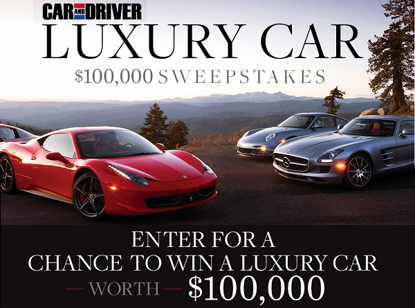 Win A Car Sweepstakes >> Caranddriver Com Dream Big Sweepstakes Win 100000 Cash