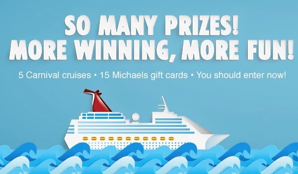 Carnival.com Michaels Sweepstakes