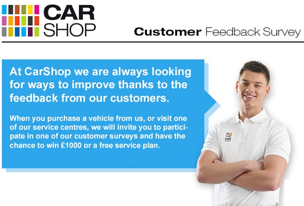 Win £1,000 Daily in Short Survey at Carshop4life.co.uk