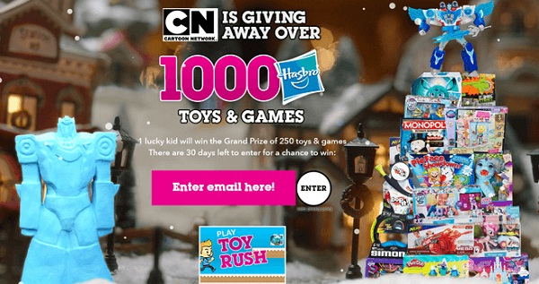 cartoon network win holiday sweepstakes sweepstakesbible